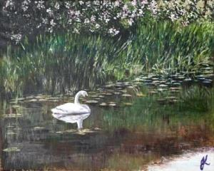 Lady of the Lake   Oil on Canvas by Julie Lovelock