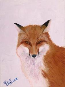 The Thought Fox   Oil on Canvas by Julie Lovelock