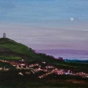 Twilight Tor | Oil on Canvas by Julie Lovelock
