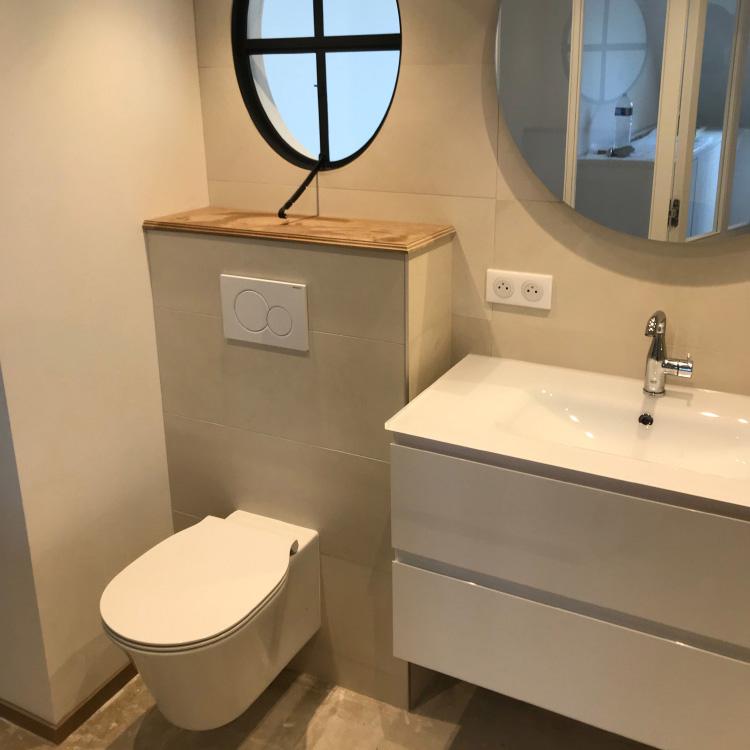 Création d'une salle de bain dans une suite parentale