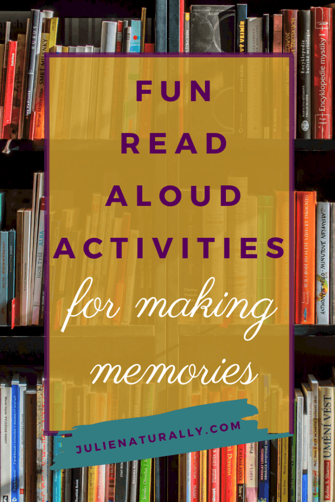 library shelves full of books for fun read aloud activities for making memories