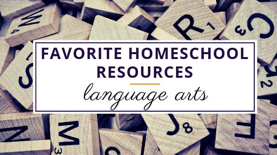 scrabble letters used as a favorite homeschool language arts resource