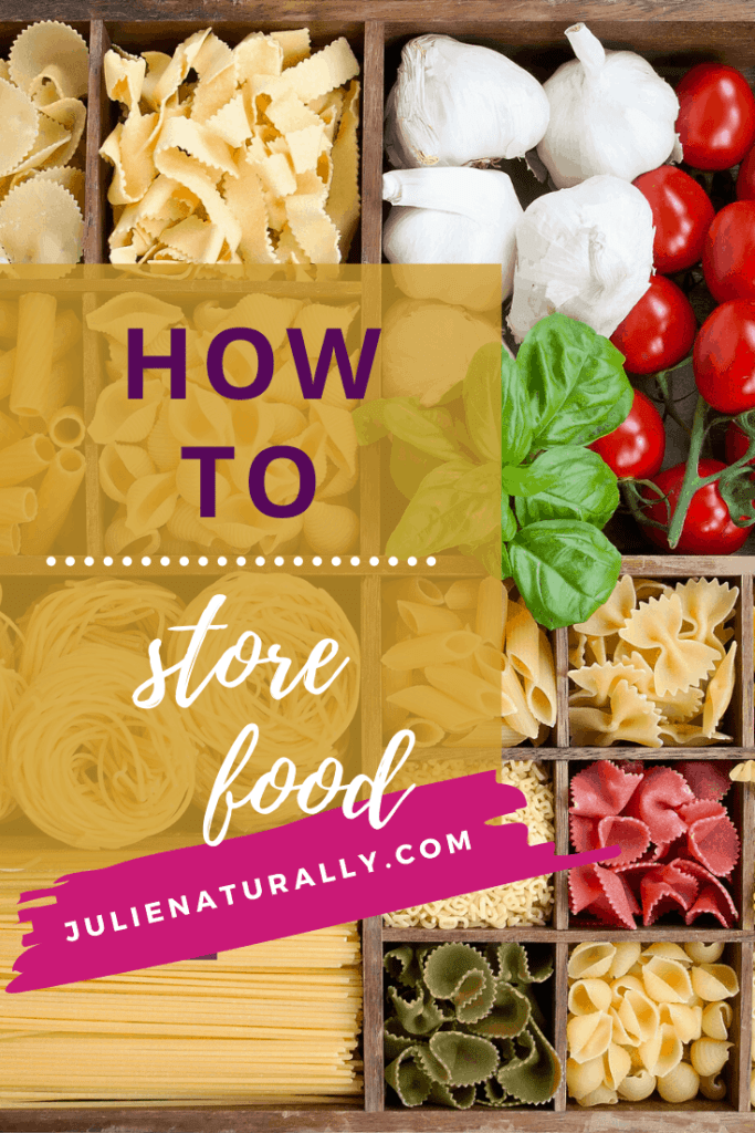 how to store food in containers for pasta, grains, and fresh food