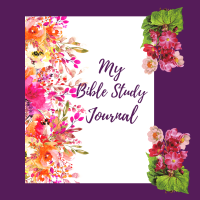 pink bible study journal with bright flowers