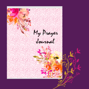 Pink Flower Prayer Journal PRINT