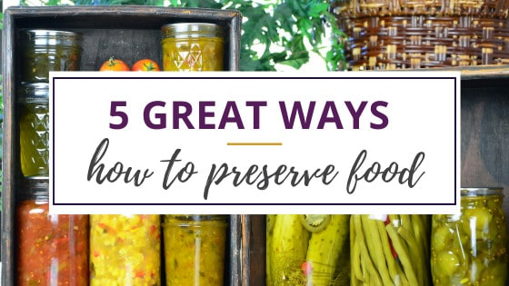 how to preserve food in jars lined up in the kitchen cabinet