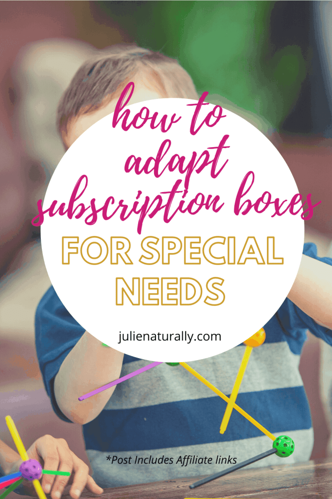 children using parts from subscription box for special needs children