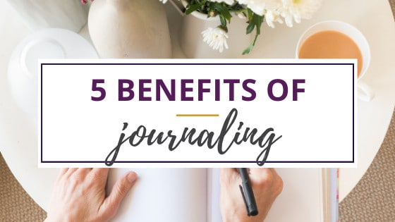 woman with flowers and coffee enjoying the benefits of journaling