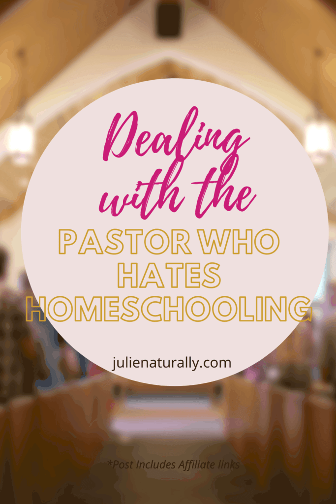 a church sanctuary that has a pastor who hates homeschooling