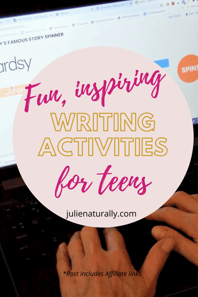 a teen doing writing activities on Bardsy online writing program