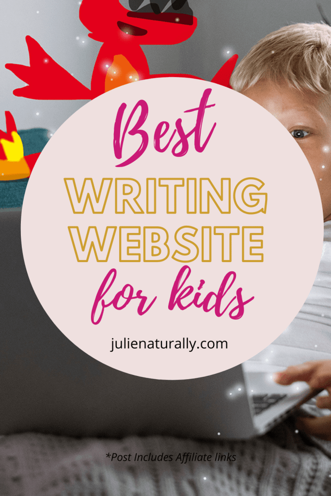 boy at computer doing night zookeeper writing website for kids