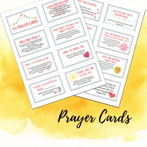 """Kids """"Teach Me How to Pray"""" Prayer Cards"""