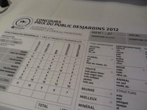 Le Prix du Public Desjardins 2012