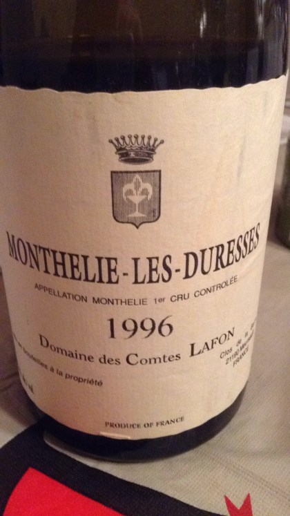 Monthélie-les-Duresses 1er Cru 1996