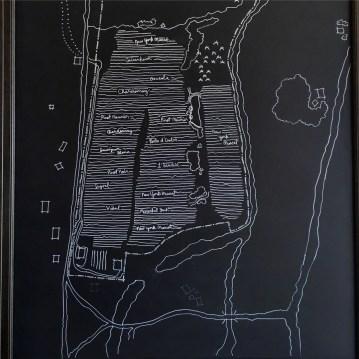 Plan des parcelles chez Benjamin Bridge