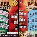 Le nouveau ticket de grattage «Poker» de la française des jeux