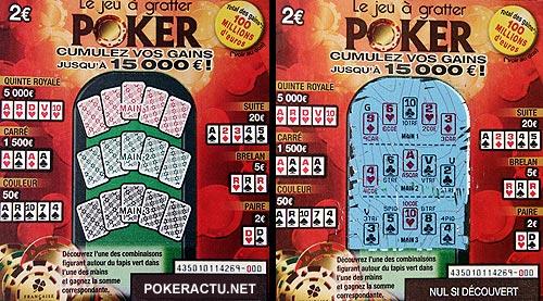 le nouveau ticket de grattage poker de la fran aise des jeux. Black Bedroom Furniture Sets. Home Design Ideas