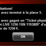 Partouche Poker Tour, ticket à 1250€ in the pocket!