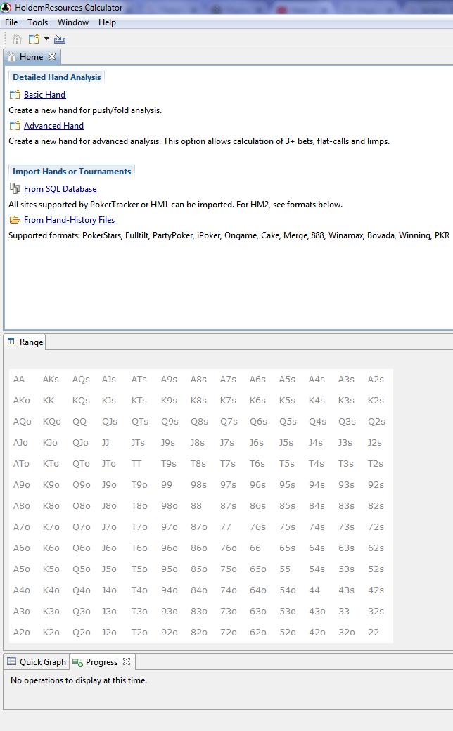 HRC menu principal