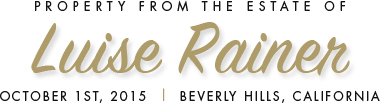 Luise Rainer Auction Logo