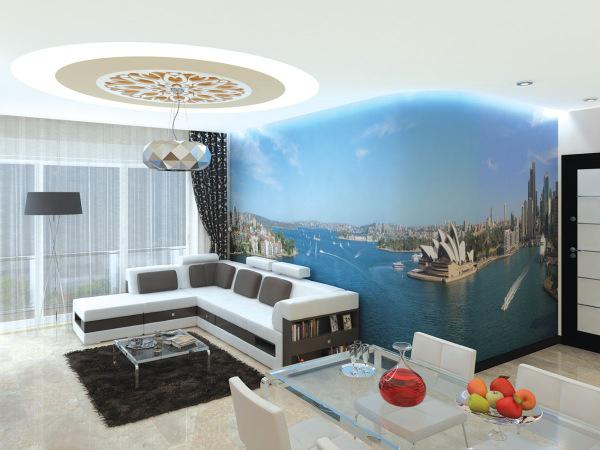 mur et plafond tendu solution d co en r novation et construction. Black Bedroom Furniture Sets. Home Design Ideas