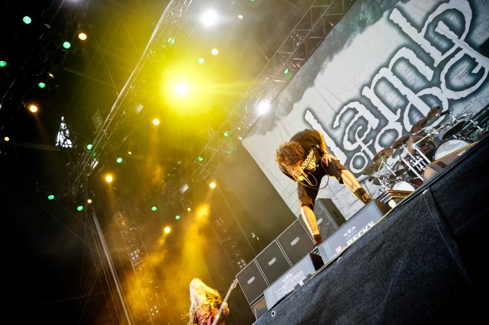 Lamb of God plays at the Wacken Open Air 2013