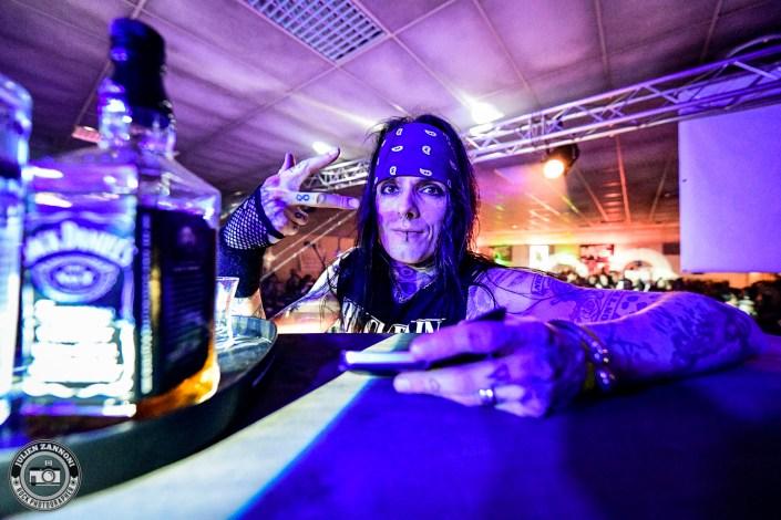 Blackrain plays at the Marnaz Metal Fest 2018