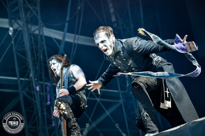 Powerwolf plays at the Download Festival Paris - 2018