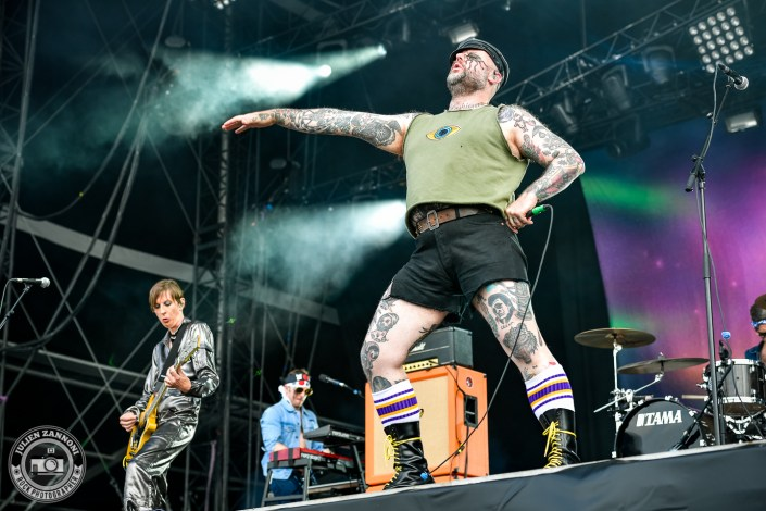 Turbonegro plays at the Download Festival Paris - 2018