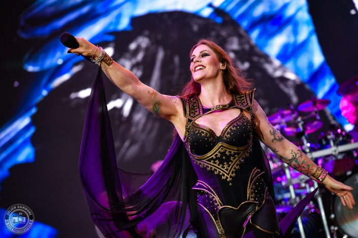 Nightwish is seen on stage during Wacken Open Air 2018 (Germany)