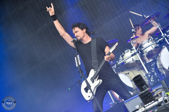Gojira is seen on stage during Wacken Open Air 2018 (Germany)