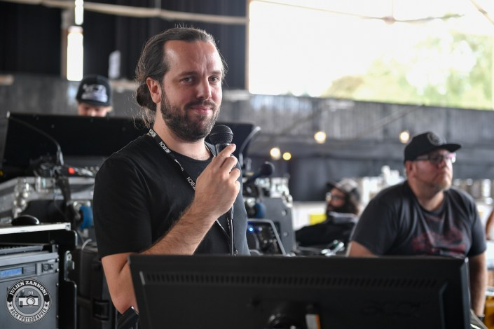 Voice of Ruin is seen in backstage during Rock Altitude Festival 2018 (Switzerland)