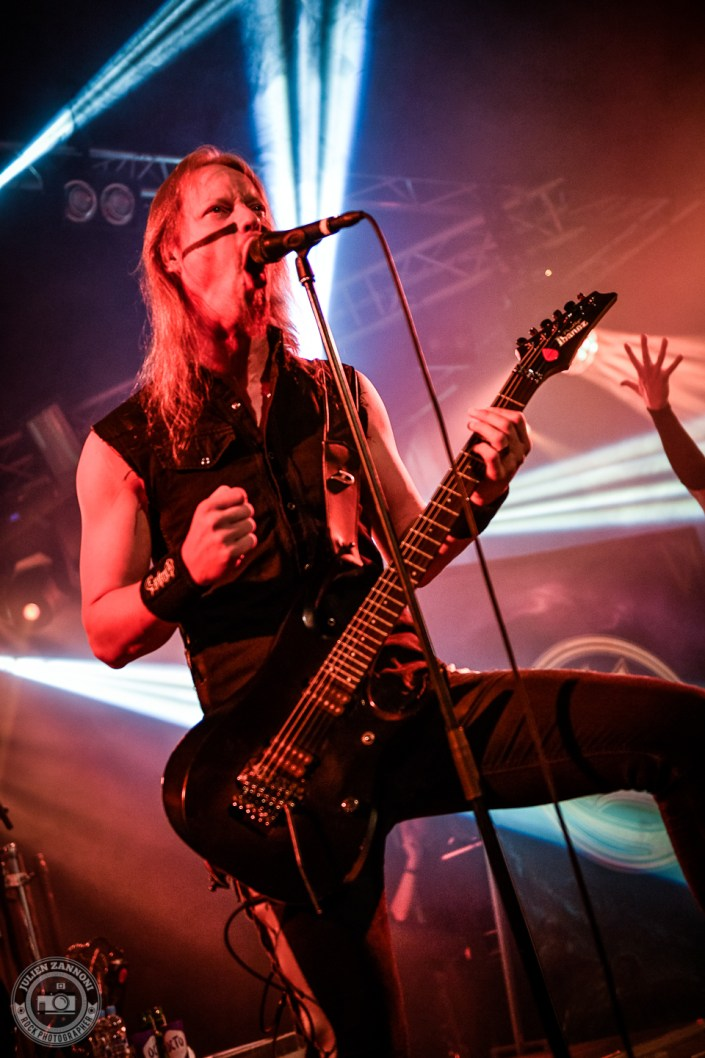 Ensiferum is seen on stage during Octopode Festival 2018 (Switzerland)
