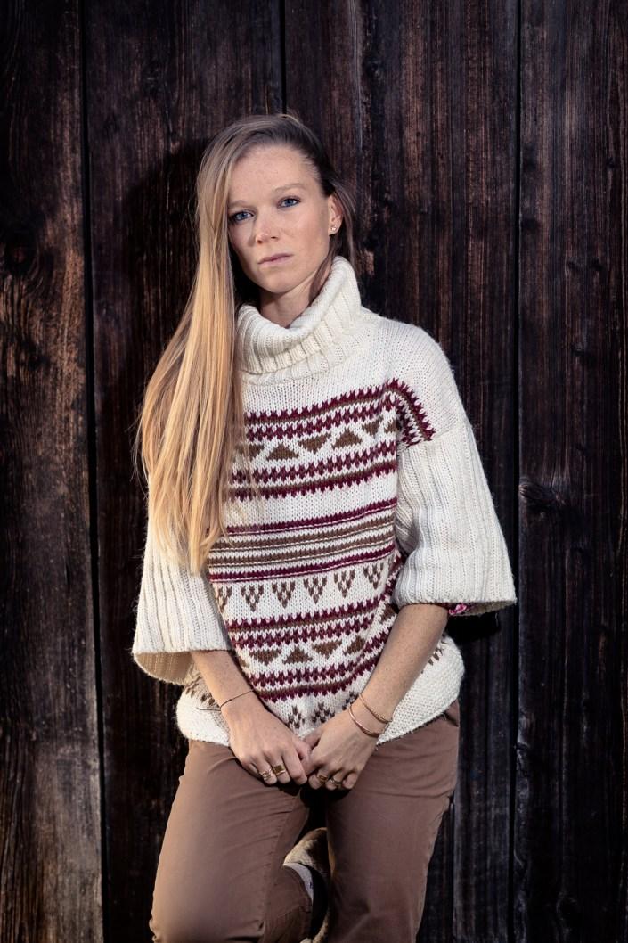 Portrait de la mannequin Sophie Moiret pris à Chamonix en automne