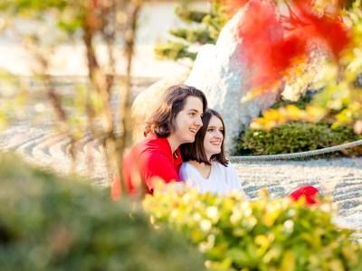 photo de couple au jardin japonais toulouse julie rivière photographie mariage maternité famille