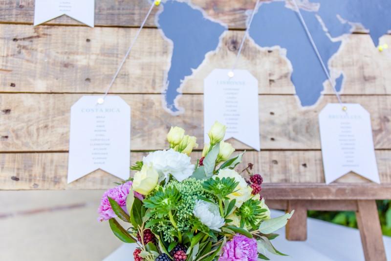 Mariage champêtre coloré fleurs Photographie