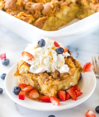 The BEST Overnight French Toast Casserole! + VIDEO