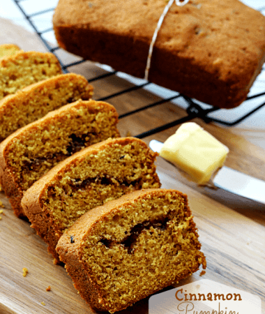 Cinnamon Swirl Zucchini Pumpkin Bread