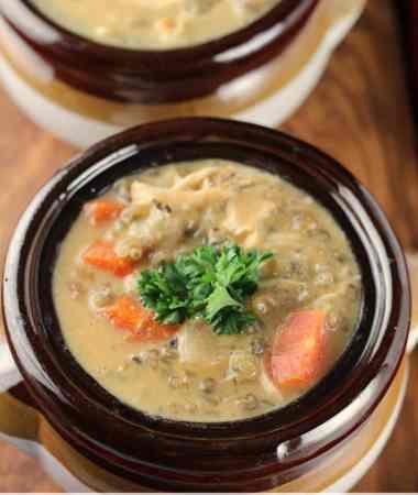 Crock Pot Cheesy Chicken Wild Rice Soup