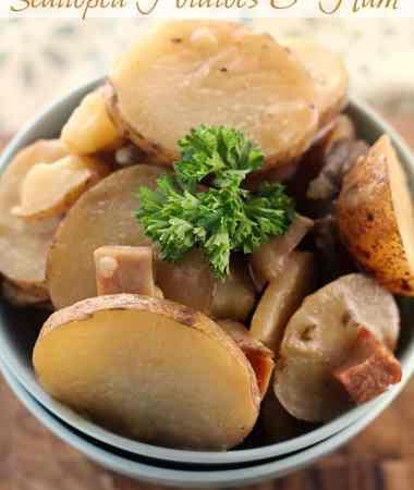 Crock Pot Scalloped Potatoes & Ham
