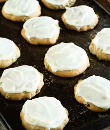 Zucchini Cookies with Cream Cheese Frosting