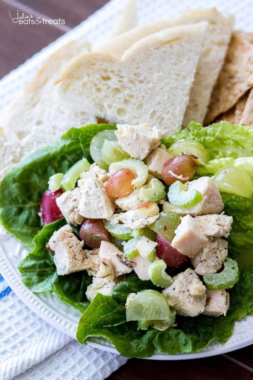 Light and Healthy Chicken Salad Recipe - Julie's Eats & Treats