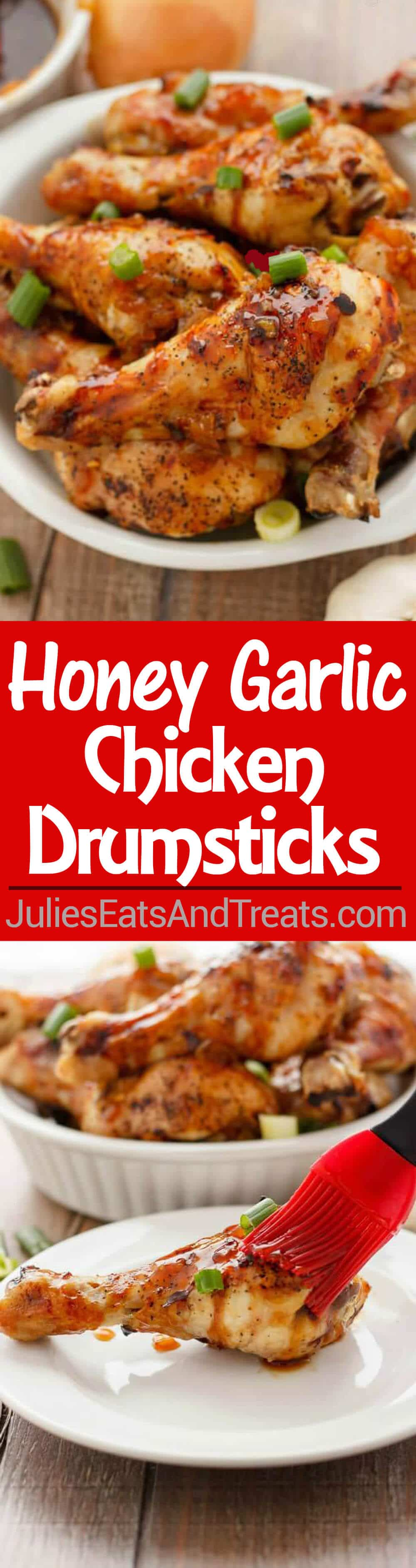 Honey Garlic Chicken Drumsticks Recipe - One of the Best Chicken Drumstick Recipes! This Drumstick Recipe is Full of Flavor Perfect for an Easy Weeknight Meal!