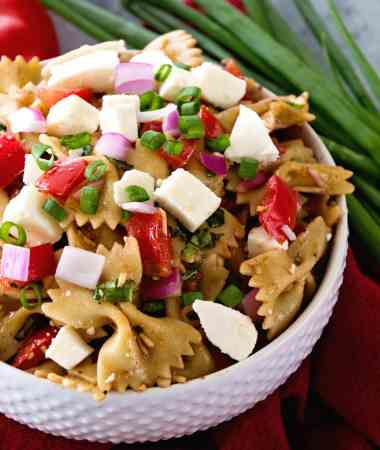 Bruschetta Caprese Pasta Salad Recipe
