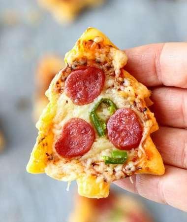 Christmas Tree Mini Pizza