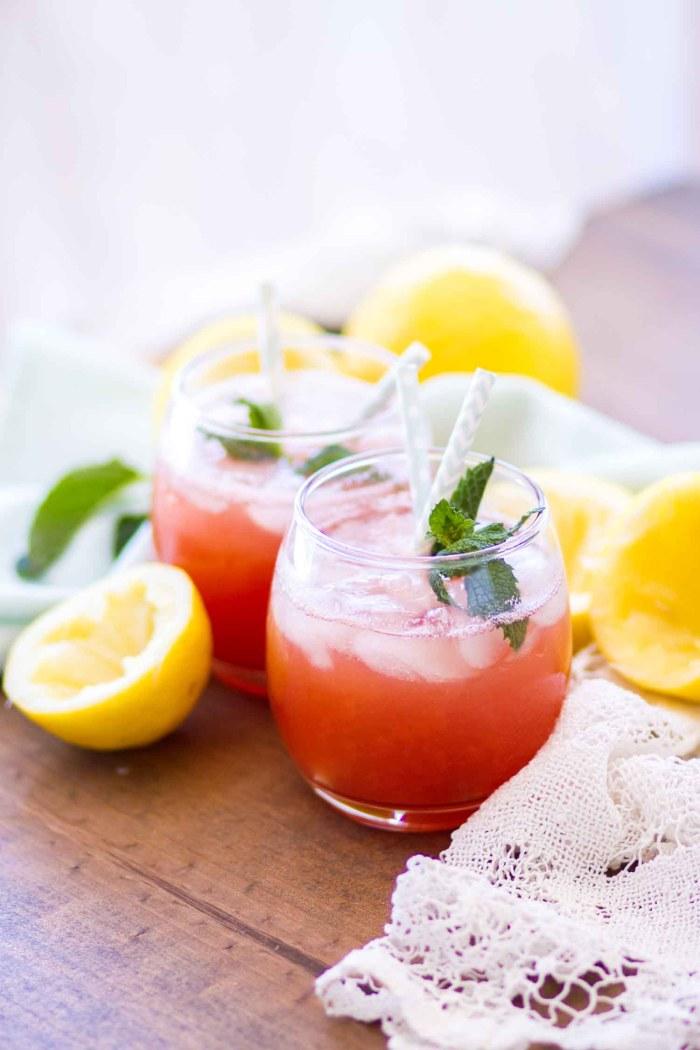 summer drink in glass