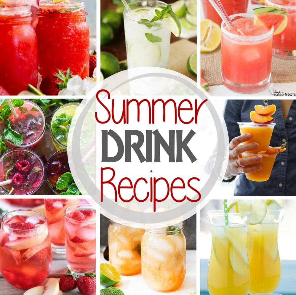 Summer Drink Square Pinterest Image