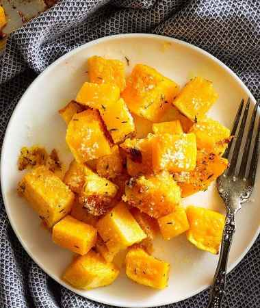 Parmesan Roasted Butternut Squash + VIDEO