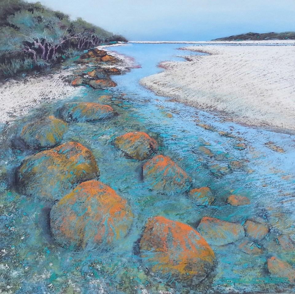 Julie Silvester - Estuary Edge - 81cm x 81cm