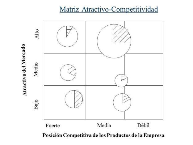 matriz atractivo competitividad